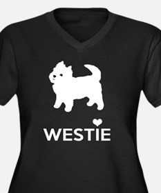 I Love Westie Dogs Plus Size T-Shirt