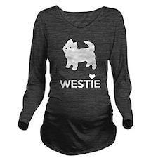 I Love Westie Dogs Long Sleeve Maternity T-Shirt