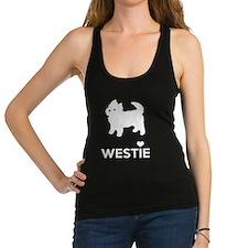 I Love Westie Dogs Racerback Tank Top