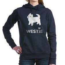 I Love Westie Dogs Women's Hooded Sweatshirt