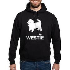 I Love Westie Dogs Hoodie