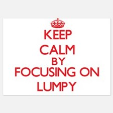 Keep Calm by focusing on Lumpy Invitations