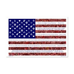 Progressive American Flag 11x17 Poster