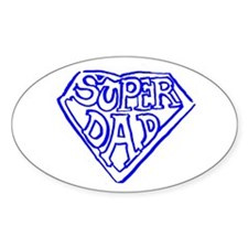 Super Dad Oval Decal