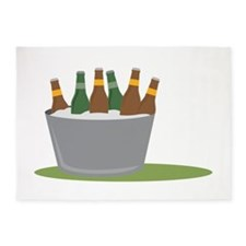 Beer On Ice 5'x7'Area Rug