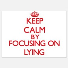 Keep Calm by focusing on Lying Invitations