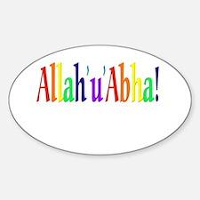 Allah'u'abha Oval Decal