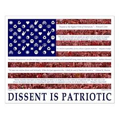 Progressive American Flag Poster (16x20)