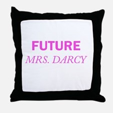 Future Mrs. Darcy Throw Pillow