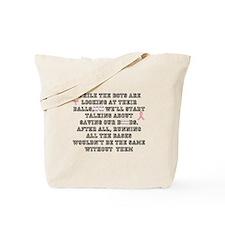 Boobs and Baseball Tote Bag