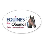 Equines for Obama Oval Sticker