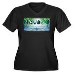 NoVAGO Women's Plus Size V-Neck Dark T-Shirt