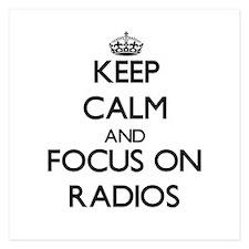 Keep Calm by focusing on Radios Invitations
