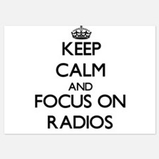 Keep Calm by focusing on Radios Invitations
