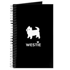 Funny West highland white terrier Journal