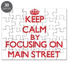Keep Calm by focusing on Main Street Puzzle