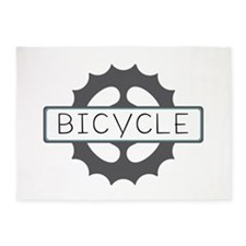 Bicycle 5'x7'Area Rug