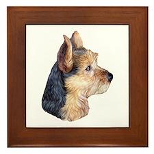 Australian Terrier Bust Framed Tile