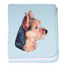 Australian Terrier Bust baby blanket
