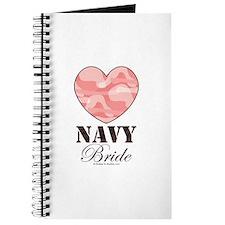 Navy Bride Pink Camo Heart Journal