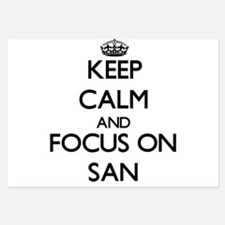 Keep Calm by focusing on San Invitations