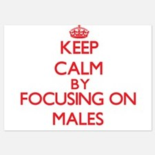 Keep Calm by focusing on Males Invitations