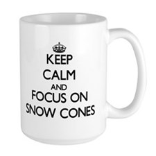 Keep Calm by focusing on Snow Cones Mugs