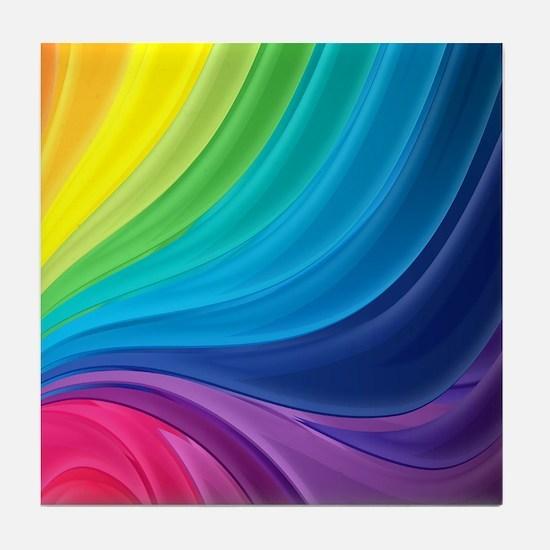 Rainbow Delight Tile Coaster