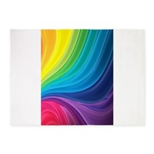 Rainbow Delight 5'x7'Area Rug