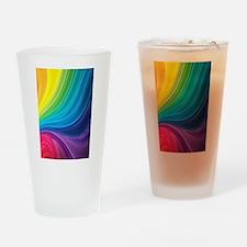 Rainbow Delight Drinking Glass