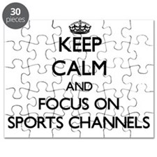 Keep Calm by focusing on Sports Channels Puzzle