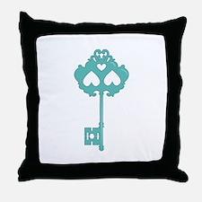 Key Skeleton Throw Pillow