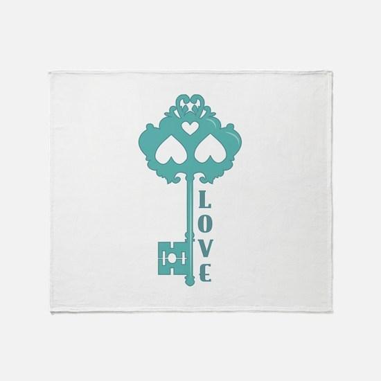 Love Key Throw Blanket