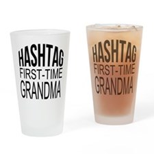 First Time Grandma Drinking Glass