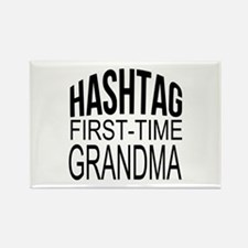 First Time Grandma Rectangle Magnet