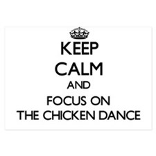 Keep Calm by focusing on The Chicken D Invitations