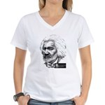Frederick Douglass Women's V-Neck T-Shirt