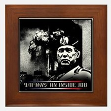 9-11 Was an inside job. Framed Tile