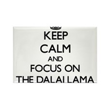 Keep Calm by focusing on The Dalai Lama Magnets