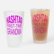 First Time Grandma Drinking Glass