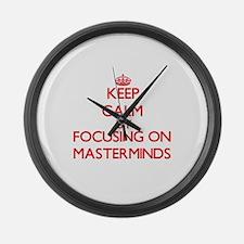 Keep Calm by focusing on Mastermi Large Wall Clock