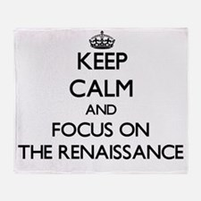 Keep Calm by focusing on The Renaiss Throw Blanket