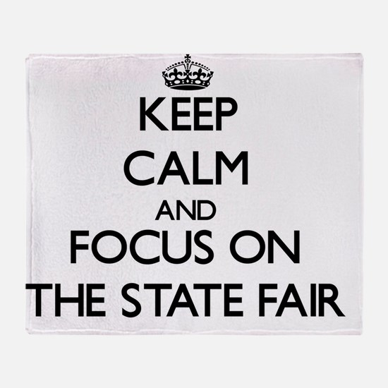 Keep Calm by focusing on The State F Throw Blanket
