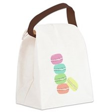 French Macaron Canvas Lunch Bag