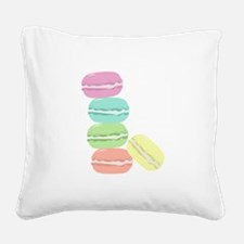 French Macaron Square Canvas Pillow