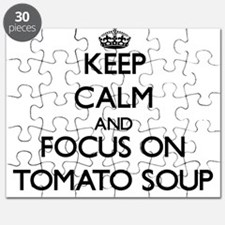 Keep Calm by focusing on Tomato Soup Puzzle