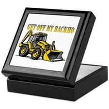Off My Backhoe Keepsake Box