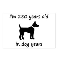 40 dog years black dog 1C Postcards (Package of 8)