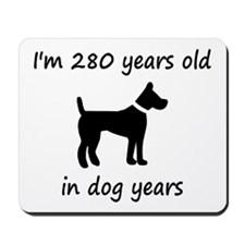 40 dog years black dog 1C Mousepad