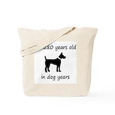 40 dog years black dog 1C Tote Bag